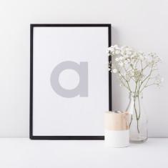 Minimalist Scandinavian Initial Letter Print