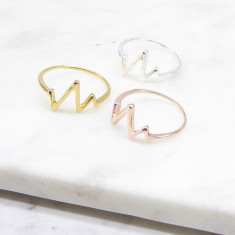 Heart Beat Ring (silver/gold/rosegold)
