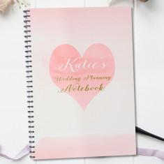 Heart wedding notebook planner