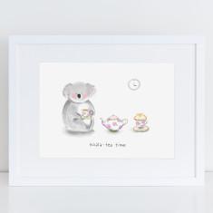 Koala-tea time print