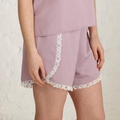 Satin flapper shorts