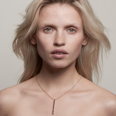 Lola necklace 18k rose gold vermeil