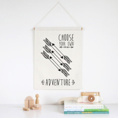 Choose your own adventure wall banner