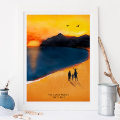 Personalised Family Beach Print