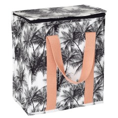 Insulated picnic bag in palm print