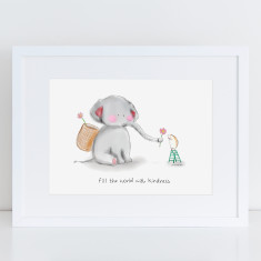 Kind Elephant Art Print