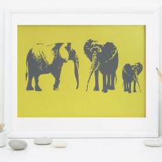 Elephant Family Fine Art Print
