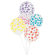 Multicolour dots party balloons (2 packs)