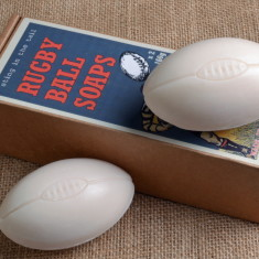 Set of 2 Rugby Ball Soaps