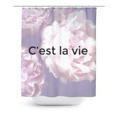 Floral c'est la vie shower curtain