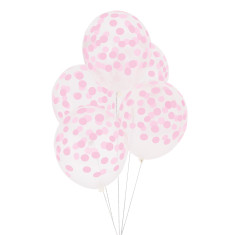 Pink dots party balloons (2 packs)