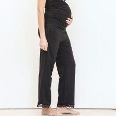 Organic sleep & lounge pant in vintage black