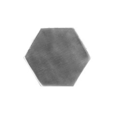 Nickel Hexagon Coasters (Set of 4)