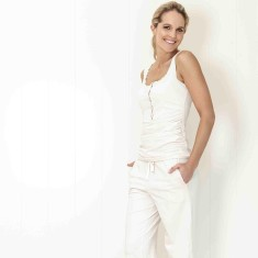 Organic sleep & lounge pant in pink blush