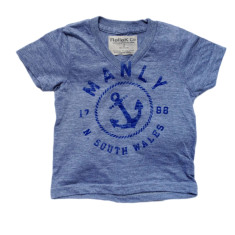 Kids' Manly anchor v-neck unisex t-shirt