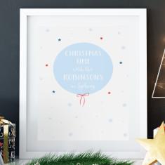 Personalised city & name Christmas print