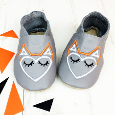 Personlalised unisex geometric Fox baby shoes