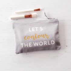 Contour the world makeup bag