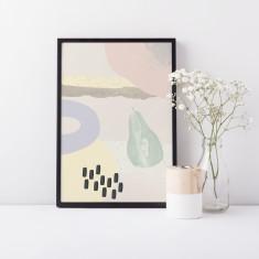 Scandinavian Pear Fruit Collage Nursery Fine Art Print