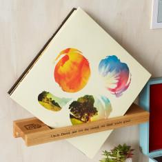 Solid Oak Personalised Vinyl Record Shelf