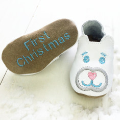 Personalised Polar Bear baby shoes