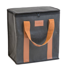 Washable Kraft Paper Insulated Cooler Bag in Coal