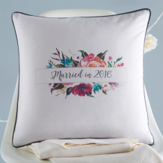 Married In 2016 Cushion Cover