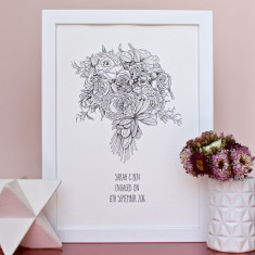 Personalised Floral Bouquet Illustration
