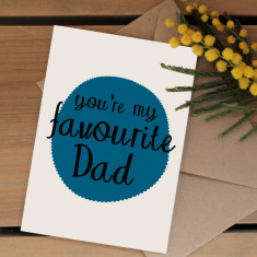 Favourite dad card