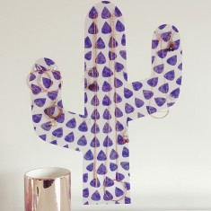 Cactus Removable Reusable Wall Sticker Jewellery Stand