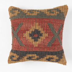 Ocean waves handmade kilim cushion cover