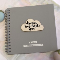 Personalised Cloud Quote Memory Book