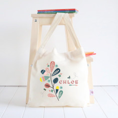 Foliage personalised library bag