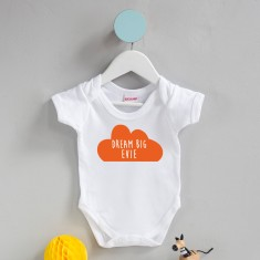 Personalised Dream Big Cloud Babygrow