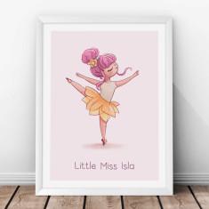 Personalised Dancing Ballerina Arabesque Kids' Print