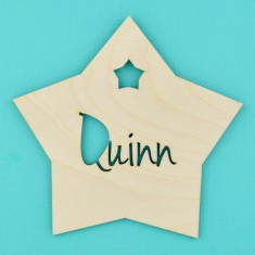 Personalised Nursery Name Sign - Star