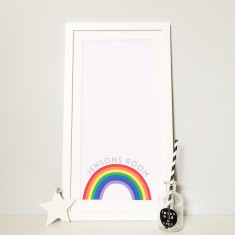 Personalised Baby Boy Rainbow Print