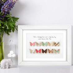 Personalised 3D butterfly paper print