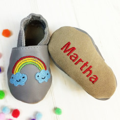 Personalised weather baby shoes
