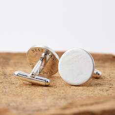 Personalised Sterling Silver Hidden Message Cufflinks