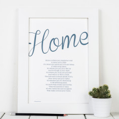 Personalised home poem print