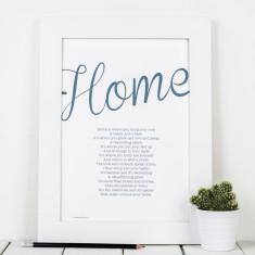 Personalised home poem print