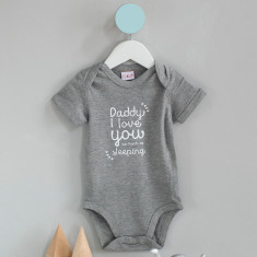 Daddy I love you as much as... babygrow