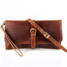 Josie Leather Wristlet Clutch Bag
