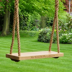 Personalised Medium Oak Garden Swing