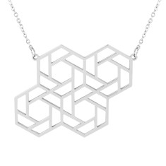 Four Hex Geometric Pendant