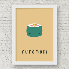 Futomaki Sushi Illustration Fine Art Nursery Print