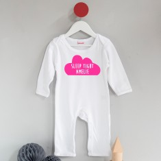 Personalised Sleep Tight Cloud Sleep suit