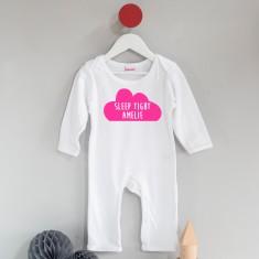 Personalised Sleep Tight Cloud Sleep suit