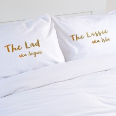Wedding Gift Personalised Pillowcase Pair